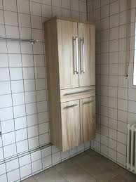 badezimmer schrank modern eiche geweißt optik chrom griffe