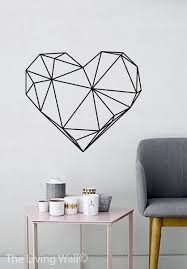 Geometric Heart Wall Decals Home Decor Removable Vinyl Stickers Art Bedroom Australian Made