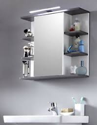 bad spiegelschrank badezimmer spiegel mit regal in weiß grau