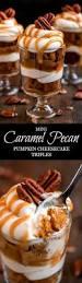 Pumpkin Layer Cheesecake by Mini Caramel Pecan Pumpkin Cheesecake Trifles Garnish U0026 Glaze