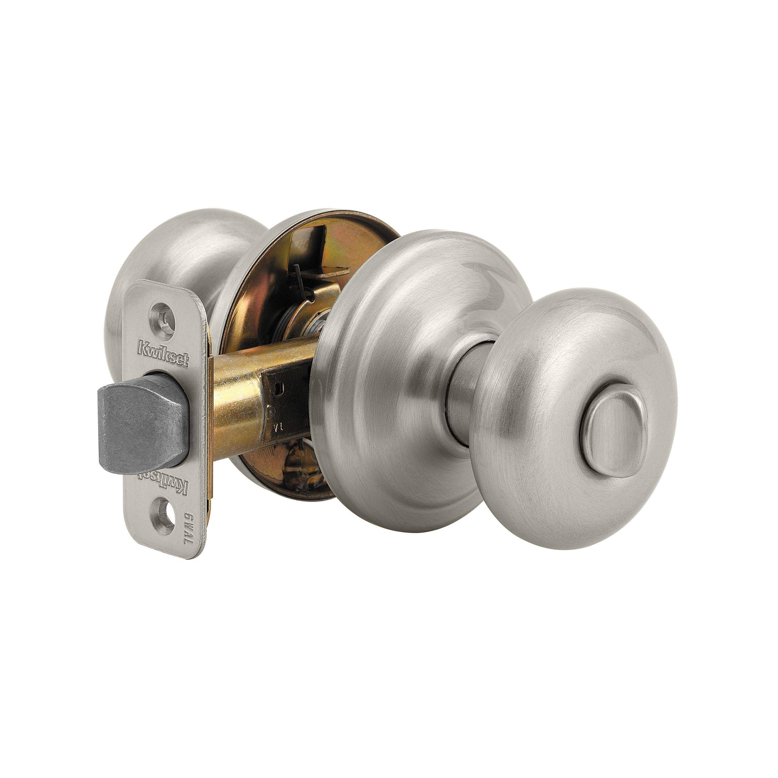 Kwikset Signature Satin Nickel Juno Privacy Lockset