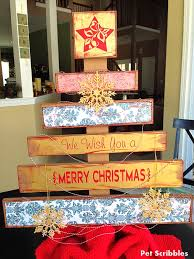 DIY Faux Wood Pallet Christmas Tree This Easy Came From A Kit