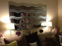 ikea krabb mirrors jazzed up with flat clear marbles from the