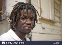 West Indian Man With Dreadlocks On Street In Village StLucia