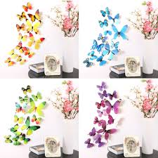 Koehler Home Decor Free Shipping by Butterfly Wall Decor Romantiko 12 Pcs Fashion 3d Butterfly Wall