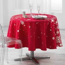 nappe ronde astre noël 180 cm 100 polyester en biais