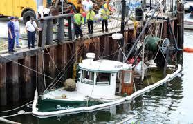 Hard Merchandise Tuna Boat Sinks by F V Demi Lynn Sinks At Her Warren Town Wharf Berth
