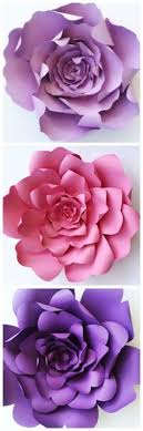 DIY Flower Templates Paper TutorialPaper