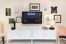A Television Creatively Mounted On The Wall That Keeps It From Standing Out Too Much Or Detracting Design Of Rest Room HGTV VIA AP
