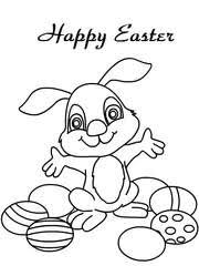 Easter Coloring Card 1