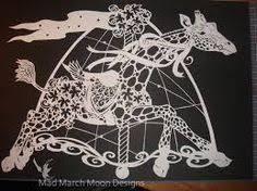 Garland The Carousel Unicorn Original Design Hand Cut Paper By Sarah Evans
