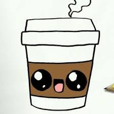 How To Draw A Coffee Cute Easy Step By Drawing Lessons For Kids