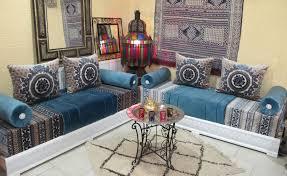 marokkanische sitzgruppe sedari blau silber saharashop