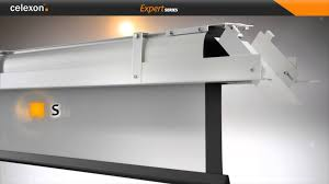 celexon electric screen expert ceiling recessed youtube