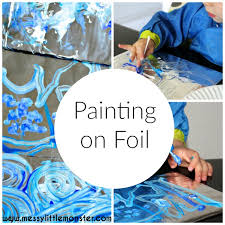 Painting On Foil Is A Simple Process Art Idea For Kids Inspired By Van Goghs