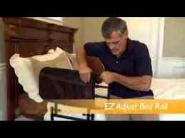 Ez Adjust Bed Rail by Ez Adjust Bed Rail Maxiaids Com Youtube