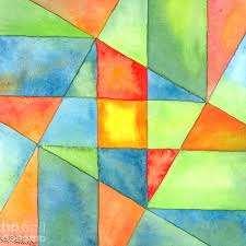 Simple Abstract Art Paintings Color Square Abstracty