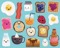 He Encontrado Este Interesante Anuncio De Etsy En Es Listing 267470952 Desayuno Kawaii Alimentos Clipart Vector