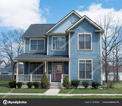 100 Picture Of Two Story House Blue Purple Door Stock Editorial Photo