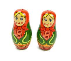 100 Matryoshka Kitchen Russian Doll Collectible Salt And Pepper Set