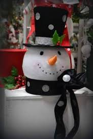 Christmas Tree Topper Top Hat Table Decoration Silver And Red