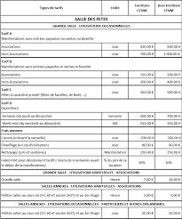 tarif salle des fetes location de salle à munster alsace