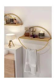 bino wand regal dekorative küche bad gold ellipse