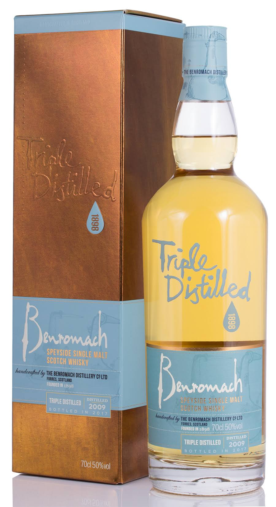 Benromach Triple Distilled Speyside Single Malt Whisky - 700ml