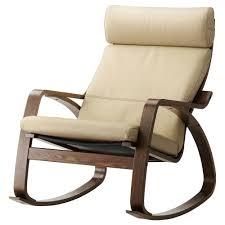 POÄNG - Rocking-chair, Brown, Robust Glose Eggshell