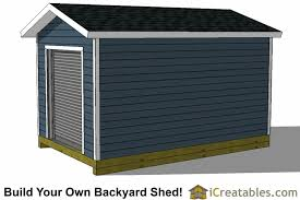 10x14 Garden Shed Plans by 10x14 Shed Plans With Garage Door Icreatables