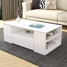 moderner weiß hochglanz wohnzimmer sofatisch kaffeetisch