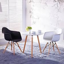 bathrins 2st esszimmerstühle stuhl mit schwarzen armrests scandinavian design holzfüsse esszimmer wohnzimmer gekocht