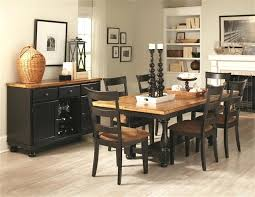 Two Tone Dining Set 5 Piece Table In Rustic Amber Black Finish