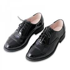 Black Womens Oxfords Comfortable Lace Up Dress Shoes Image