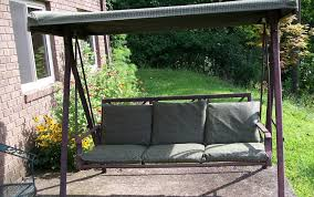 Kmart Porch Swing Cushions by Inspirations Outdoor Patio Swing Sets With Outdoor Wooden Bench