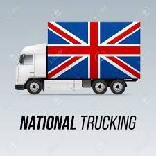 100 Truck Flag Symbol Of National Delivery With Of Great Britain