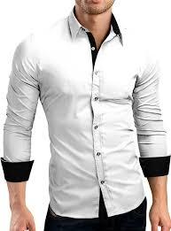 grin u0026bear slim fit men u0027s wrinkle free contrast shirt dress shirt
