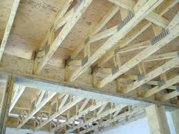 Engineered Floor Joist Cost Per Foot Home Trusses Vs Joists Manufactured Span Tables Wood Beams Depot Laminated