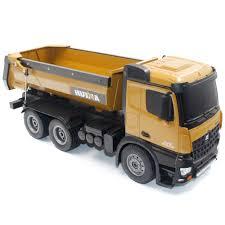 100 Rc Model Trucks HUINA TOYS 1573 114 10CH Alloy RC Dump Engineering