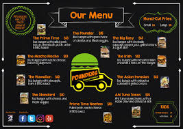 100 Food Truck Apps Pounders Menu Blue Atlas Marketing