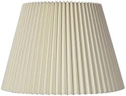 Stiffel Lamp Shades Cleaning by Ivory Linen Knife Pleat Lamp Shade 9x14 5x10 Spider Lampshades