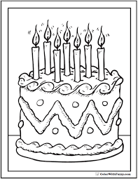 7th Birthday Cake Coloring