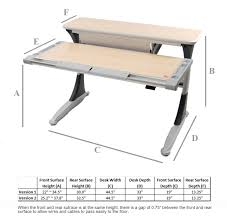 Omnirax Presto 4 Studio Desk Black Dimensions by Adjule Height Desk Legs