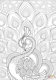Zentangle Peacock With Ornament Coloring Page From Peacocks Category Select 27278 Printable Crafts Of Cartoons Nature Animals Bible And Many More