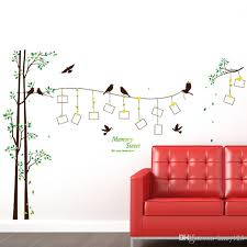 diy modern photo frame birds tree wall stickers bedroom living