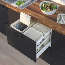 hållbar kompostbehälter mit deckel hellgrau 10 l