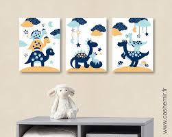 deco chambre dinosaure affiche pour enfant illustration bébé poster enfant garçon