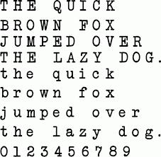 Bold Typewriter Font