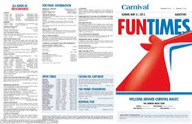 Carnival Magic Lido Deck Cam by Carnival Magic Funtimes Daily Itinerary Cruise With Gambee