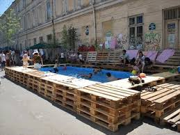 Homemade DIY Pallet Swimming Pool Ideas